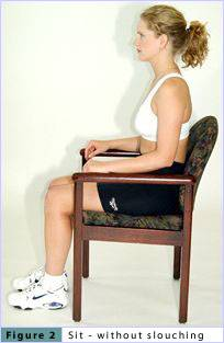 Sit - without slouching